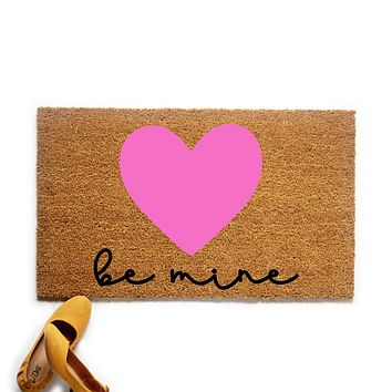 Be Mine Heart Valentine's Day Doormat