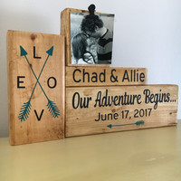 Wedding gift anniversary gift for couple unique gifts bridal shower gift wedding sign tribal arrow tribal art wooden sign farmhouse decor