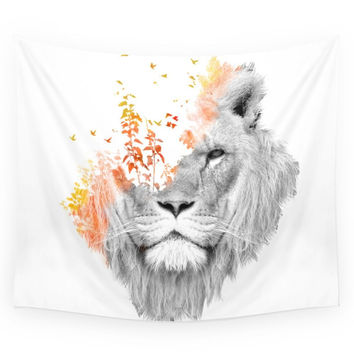 Society6 If I Roar (The King Lion) Wall Tapestry