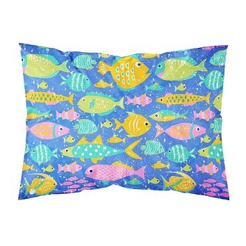 Little Colorful Fishes Fabric Standard Pillowcase VHA3034PILLOWCASE