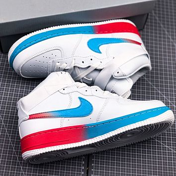 NIKE AIR FORCE 1 LV8 JUST DO IT New fashion hook couple shoes White