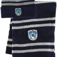 Bundle - 2 items: Harry Potter Ravenclaw Beanie Hat and Wool Scarf Set