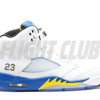 "air jordan 5 retro ""laney 2013"" - white/varsity maize-varsity royal-black - Air Jordans 