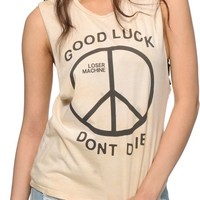 Loser Machine Trench Light Dirty Wash Muscle Tee