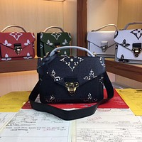 LV Louis Vuitton Newest Popular Women Leather Handbag Tote Crossbody Shoulder Bag Satchel  24CM