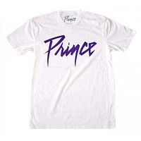 Prince Purple Logo White T-Shirt