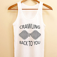 Funny Tank top Arctic Monkeys,crawling back to you Tank top Mens and Tank top girl Size S-XXL by AkuKuduKuat