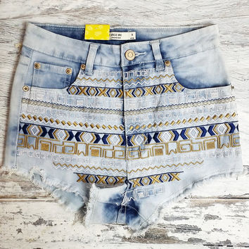 Aztec legend high waist shorts