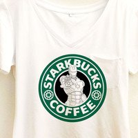 Iron Man Starkbucks Coffee Shirt | Avengers Civil War Starbucks | Disney Marvel