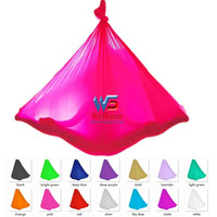 5 meter length top quality Flying Yoga Swing Anti-Gravity yoga hammock  fabric Aerial Traction Device for yoga for yoga stadium