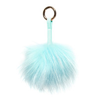 Nila Anthony Aqua Furry Keychain