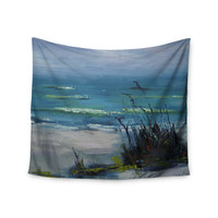 "Carol Schiff ""Sanibel"" Blue Painting Wall Tapestry"