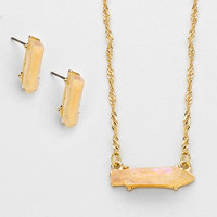 Adorn by Lulu- Glam Rock Necklace in Gold/Mother of Pearl