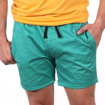 The 'Paradise' Stretch Twill Short in Aqua Blue Sizes M & L Available