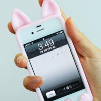 Cute Cat Ear Case for iPhone4/4S