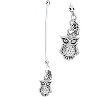Mama's Love Owl Pregnancy Belly Ring | Body Candy Body Jewelry