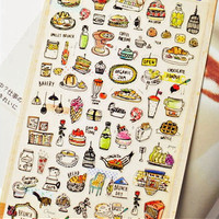 Korea Import Hearty Dinner Label Stickers Decorative Stationery Stickers Scrapbooking DIY Stickers Diary Album Stick Label