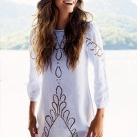 Vix Swimwear 'Jessey Linen' Embroidered Beach Cover Up by Vix 2013 | The Orchid Boutique