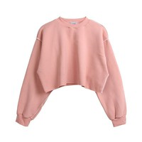 9-color outer seam loose grasping short bi-clothing 2017 autumn burr-mill sweater women