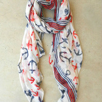 Come Sail Away Scarf [4369] - $16.00 : Vintage Inspired Clothing & Affordable Dresses, deloom | Modern. Vintage. Crafted.
