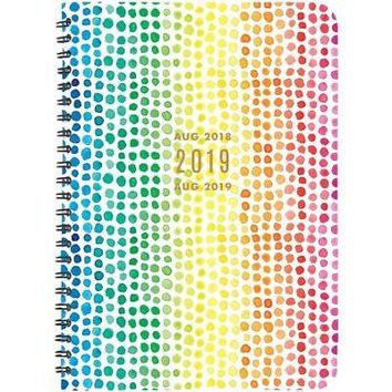 Rainbow Dots  Planner, Weekly Planners by Waste Not Paper