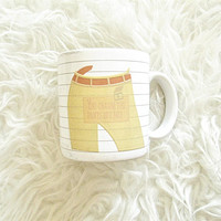 Vintage '86 You CHARM the PANTS Off of Me Double Talk Ceramic Coffee Mug