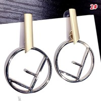 Fendi New fashion letter circle long earring women