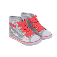 Billieblush Sequin Hightops with Pink Laces - U19032/029 -  FINAL SALE