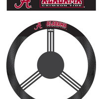 BSI Alabama Crimson Tide College Sports Team Logo Printed Poly-Suede Car Truck Automotive Vehicle Steering Wheel Cover
