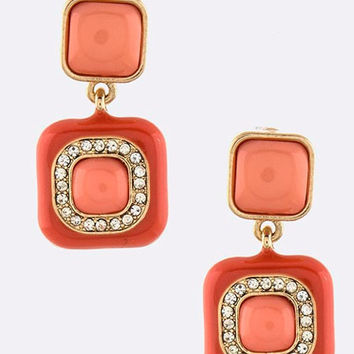 Jalepeno-Squares Earrings