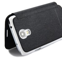 Wonderful Imitated Leather Phone Shell Multi-Color Embellished Cover for Samsung i9300 (black)