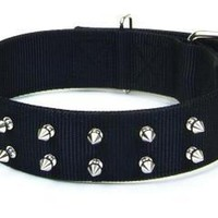 Macho Dog Dbl Nylon Spiked Roller Buckle Lg Collar 20""
