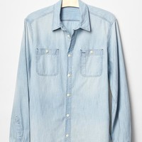 1969 icon worker bleached chambray shirt | Gap