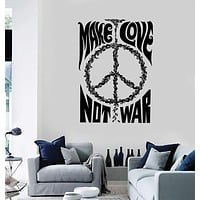 Vinyl Wall Decal Hippie Peace Symbol Quote Love Stickers Unique Gift (ig4016)