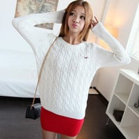 2016 New style autumn and winter female fashion trui, o-neck slim women sweaters and pullovers, casual knitted pullover femme