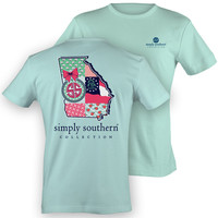 Simply Southern Georgia Chevron Preppy State Pattern Girlie Bright T Shirt