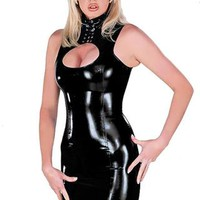 Lacing Keyhole Mini Dress with G-String