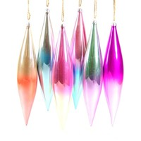 Tall Pastel Spindle Ornament Set (Set of 6)