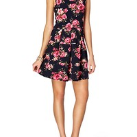 Pieced & Pleated Skater Dress