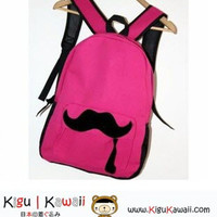 NEW Rose Red Cute Mustache Embellished Backpack Bag KK197