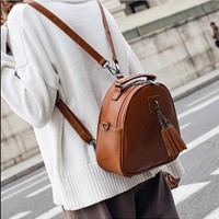 Fashion  women PU  leather backpack two shoulder small backpack for travel campus student  multi function backpack  h-9985