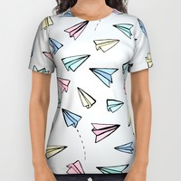 Paper Planes in Pastel All Over Print Shirt by Tangerine-Tane