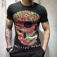 PHILIPP PLEIN short sleeve print tee blouse top H-A0-LLBS