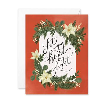 Let Your Heart Be Light - A2 Note Card