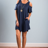 Thinking About You Dress, Navy