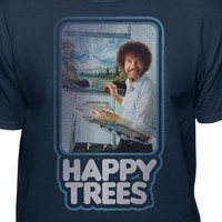 Bob Ross The Joy of Painting Official Happy Trees T-shirt