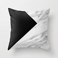 "SJbaby 18"" x 18"" Black Marble Collage Decorative Throw Pillow Case Cushion Cover"