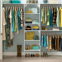 """SuiteSymphony 84""""W - 120""""W Closet System with Top Shelves"""