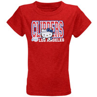Los Angeles Clippers Youth Girls Hello Kitty T-Shirt - Red - http://www.shareasale.com/m-pr.cfm?merchantID=7124&userID=1042934&productID=555877545 / Los Angeles Clippers