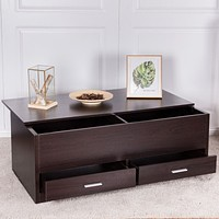 Bright Coffee Table with Deep Compartment